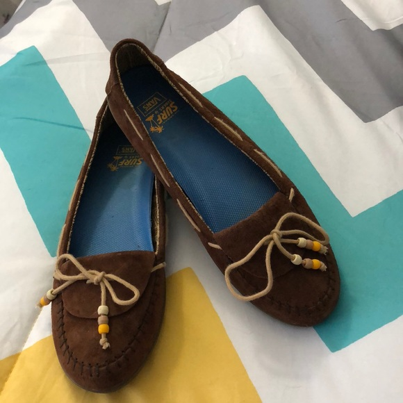 Vans Shoes - Van's Surf Siders - Brown - Size 8.5